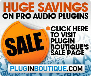 Save on audio plugins at Plugin Boutique