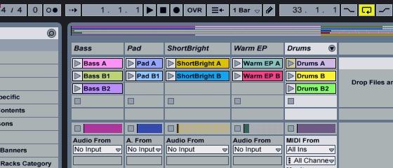 Ableton Live 7 Session View