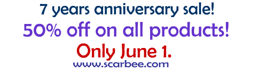 Scarbee 7 year anniversary sale