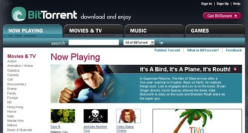 BitTorrent website