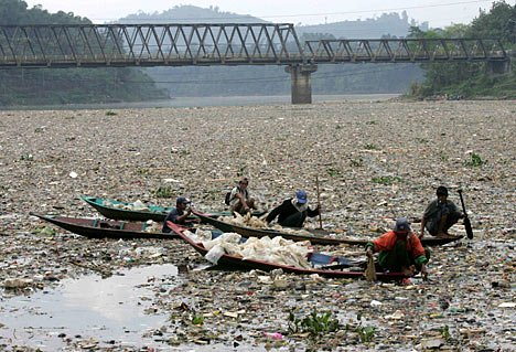 Citarum river pollution (West Java, Indonesia)