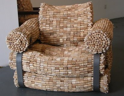 Chair made from corks