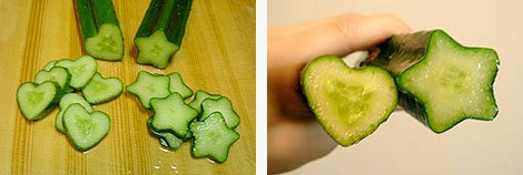 Star and Heart shaped cucumbers