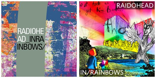 cover art for In Rainbows