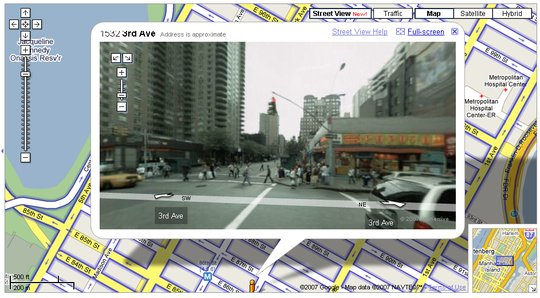 Google Maps Street View of NYC 86th and 3rd