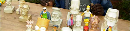 Simpsons carved models