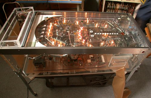 The Visible Pinball machine