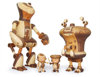 Wooden robot toys by take-g toys