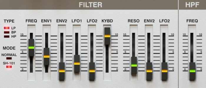 d16 LuSH-101 filter section