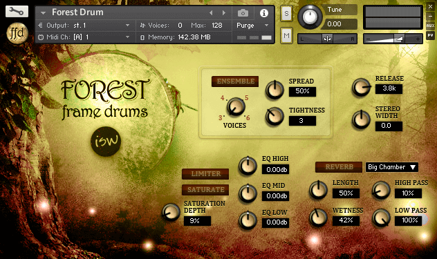 ISW Forest Frame Drums GUI