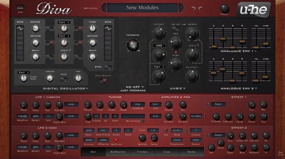 U he diva virtual analog synth updated to v1 3 with - U he diva ...