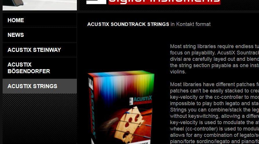 AcustiX Digital Strings
