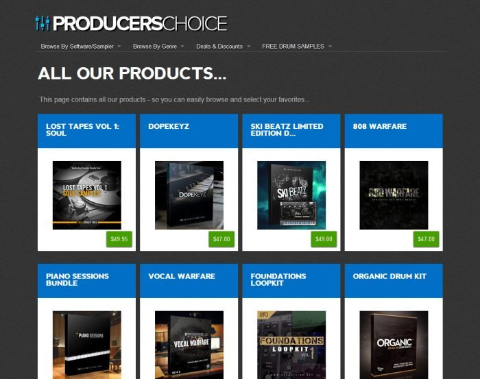 producers choice packs