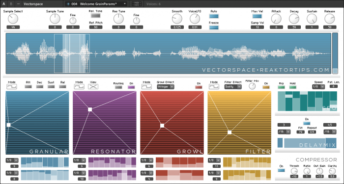 Reaktor Tips Vectorspace