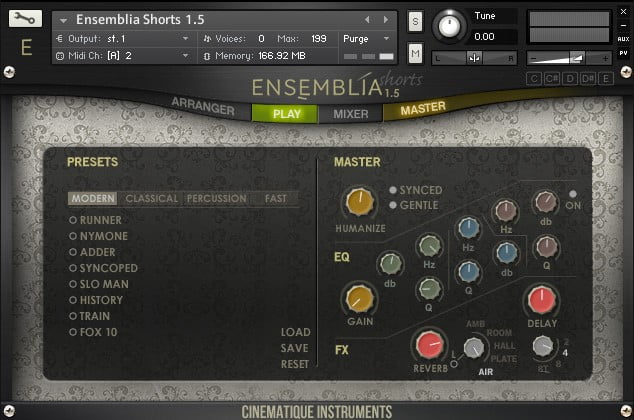 Cinematique Instruments Ensemblia 1.5