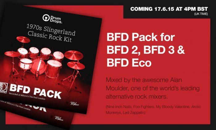 Drumdrops 1970s Slingerland Classic Rock Kit BFD Pack