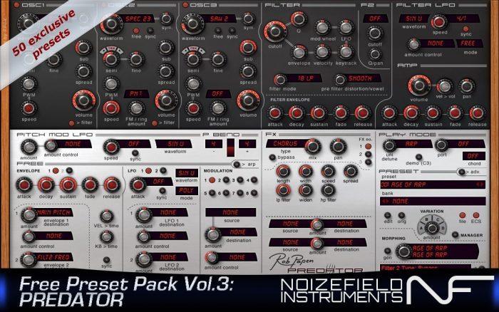 Noizefield Free Preset Pack3 Predator