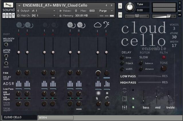 Sound Dust Cloud Cello