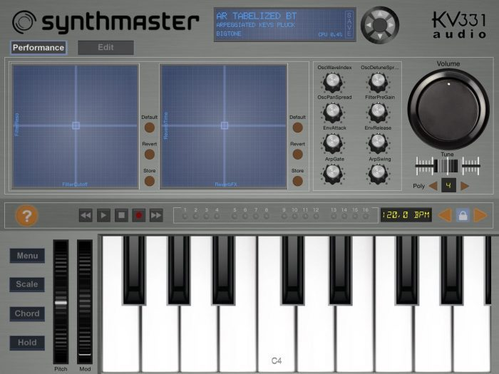 Synthmaster iPad