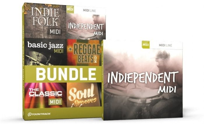 Toontrack Indiependent MIDI & Bundle pack