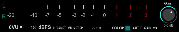 Hornet VU Meter