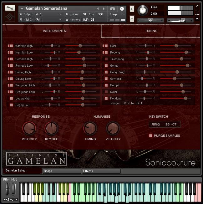 Soniccouture Balinese Gamelan II instruments