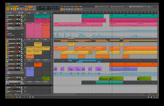 Bitwig Studio Group Tracks