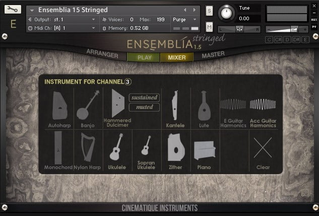 Cinematique Instruments Ensemblia Stringed
