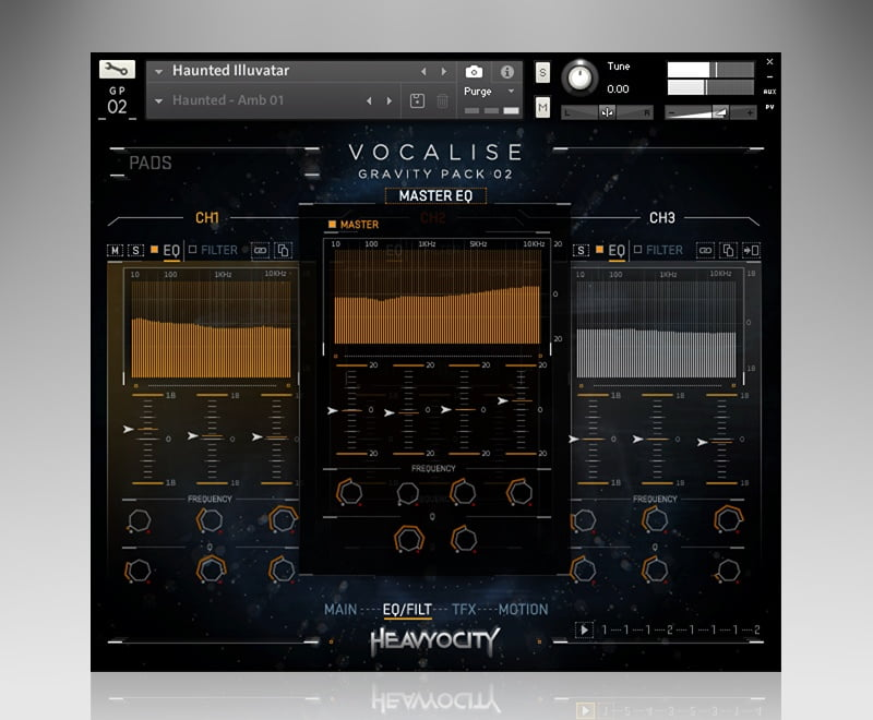 Heavyocity Vocalise eq filter