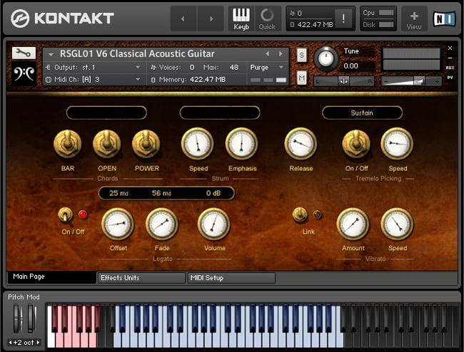 Replika Sound V6 Classical Acoustic Guitar