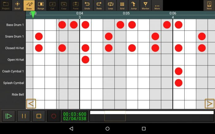 eXtream Audio Evolution Mobile drum pattern editor