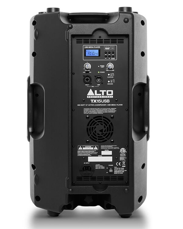 Alto TX15USB rear