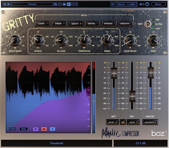 Boz Digital Labs Manic Compressor Gritty