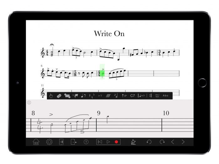 PreSonus Notion for iOS Handwriting