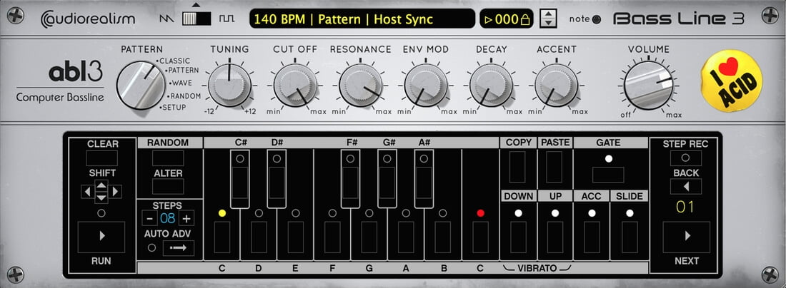 AudioRealism ABL3 bassline synth plugin updated to v3 0 3