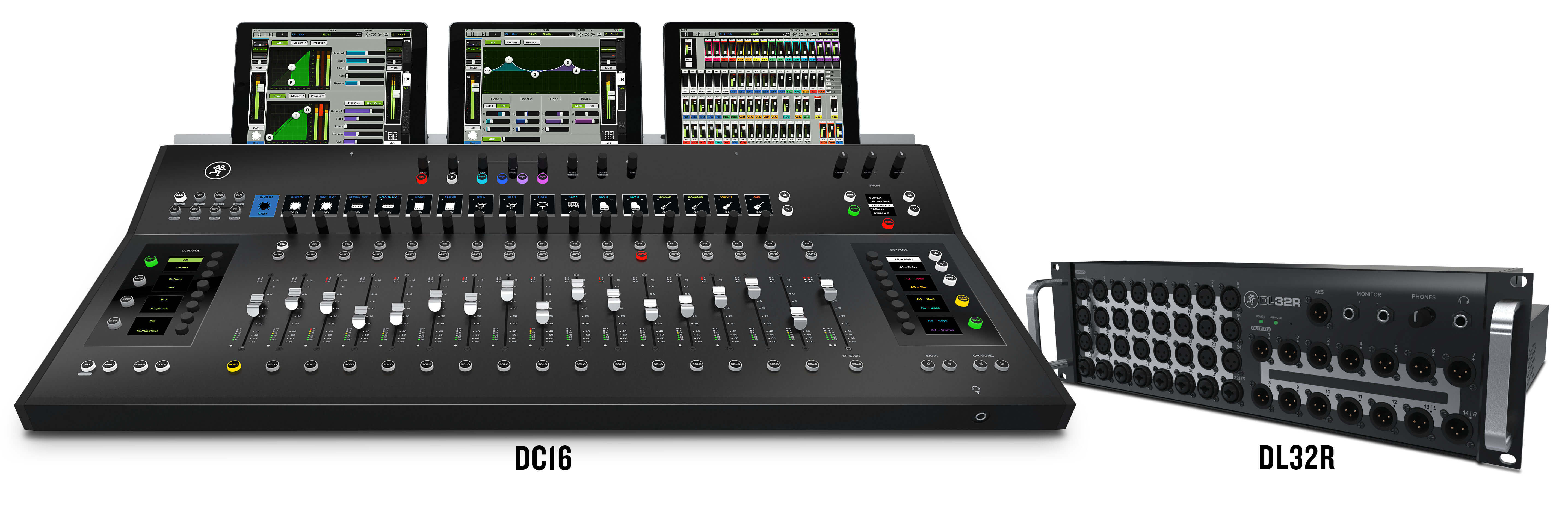 mackie dc16 control surface for dl32r mixer launched. Black Bedroom Furniture Sets. Home Design Ideas