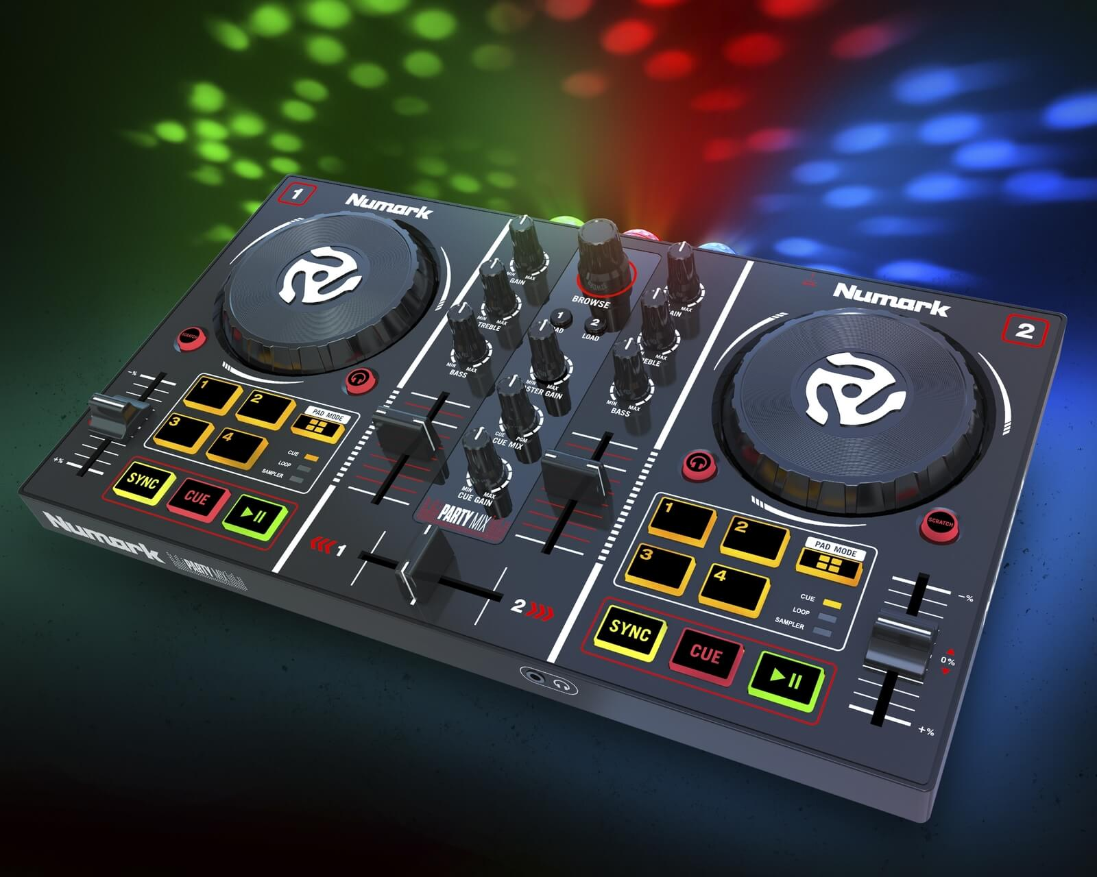 numark party mix dj controller introduced. Black Bedroom Furniture Sets. Home Design Ideas