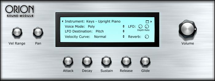 SampleScience Orion Sound Module GUI