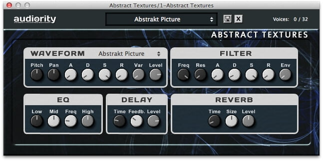 Audiority Abstract Textures plugin