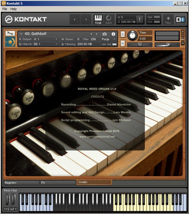 Precisionsound Royal Reed Organ Kontakt 3