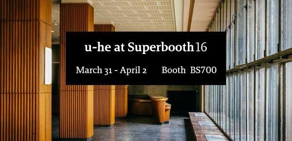 Superbooth16 u-he