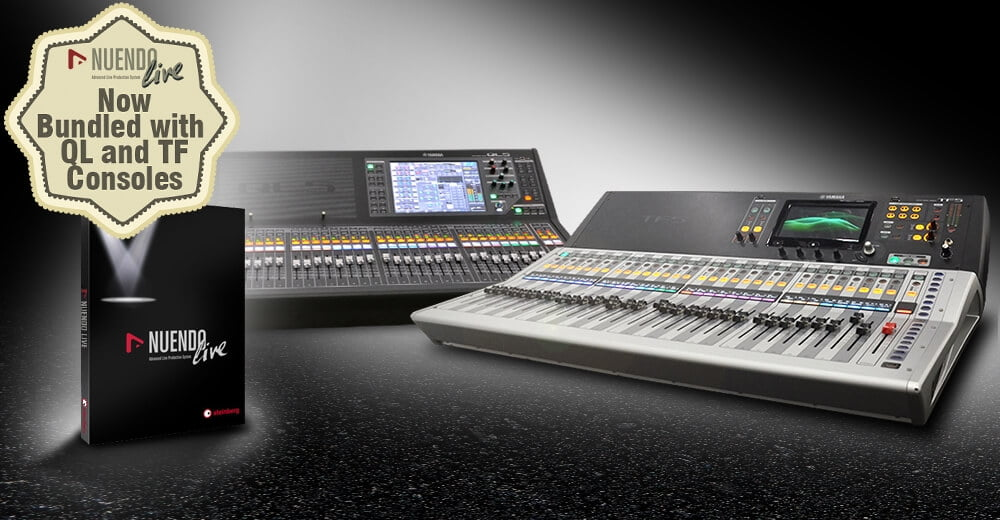 Yamaha ql and tf series consoles get nuendo live for Yamaha tf series