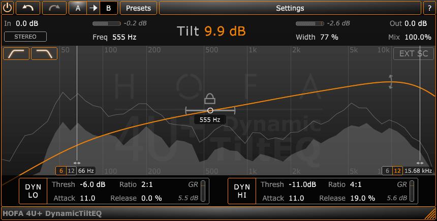 HOFA Plugins 4U+ DynamicTiltEQ