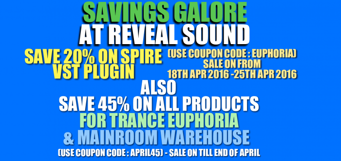 Reveal Sound Sale 2016