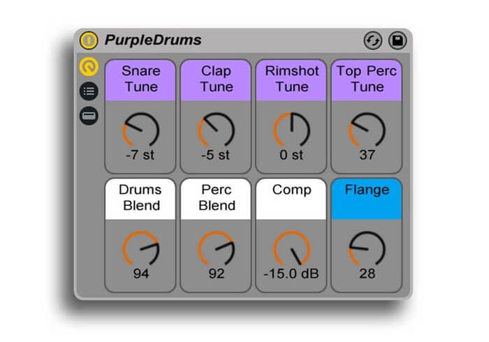 Symplesound PurpleDrums rack