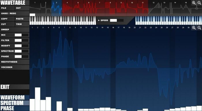 Tone2 Icarus screenshot wavetable editor