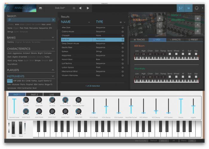 Arturia Analog Lab 2 MIDI