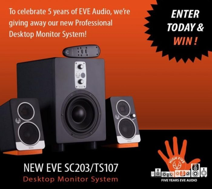 EVE Audio desktop monitor system giveaway
