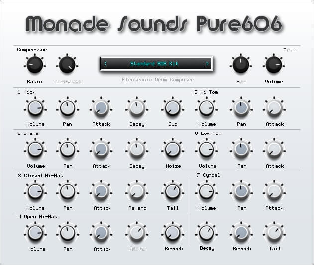 Monade Sounds Pure606 Drum Machine