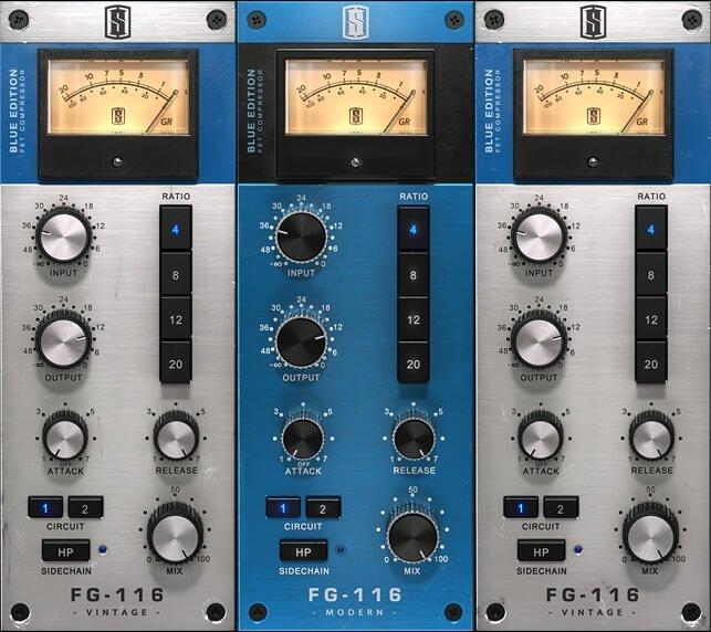 Slate Digital FG-116 Blue Series FET Compressors